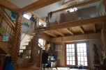 Interior post and beam