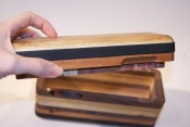 reclaimed wood yoga block opens