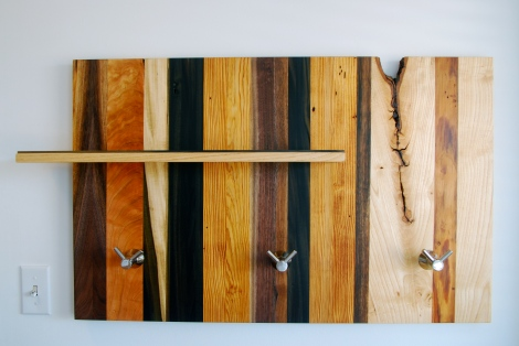 Reclaimed Coat hanger and shelf