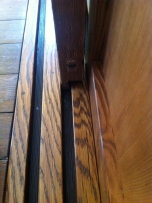 custom wooden slider in interior shoji door