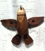 Wooden Penguin Toy