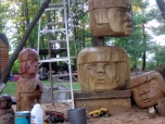 Totem Pole in progress 2006