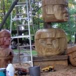 Totem Pole in progress 2006